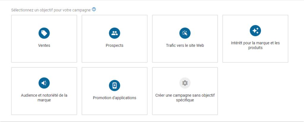 les objectifs publicitaires de Google Ads